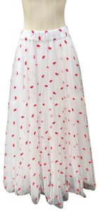 P.A.R.O.S.H. Maxi Skirt white and red