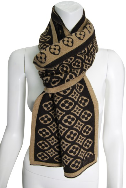 Louis Vuitton Brown Cashmere Stole / Shawl Monogram Scarf/Wrap Louis Vuitton Brown Cashmere Stole / Shawl Monogram Scarf/Wrap Image 1