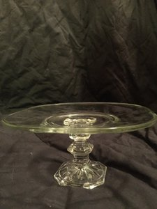Clear Glass Pedestal Cake Stand Tableware