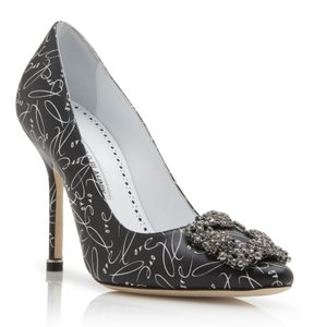 Manolo Blahnik Explorete Stiletto Black Pumps