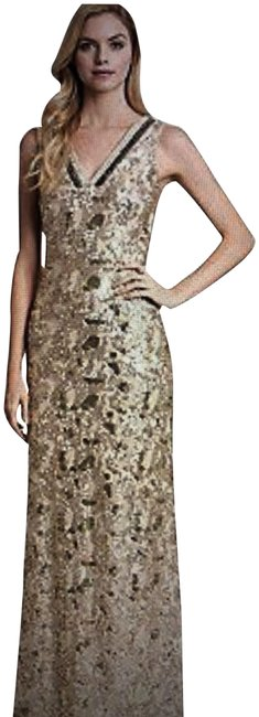 Item - Gold Sequin Belle By Long Formal Dress Size 2 (XS)