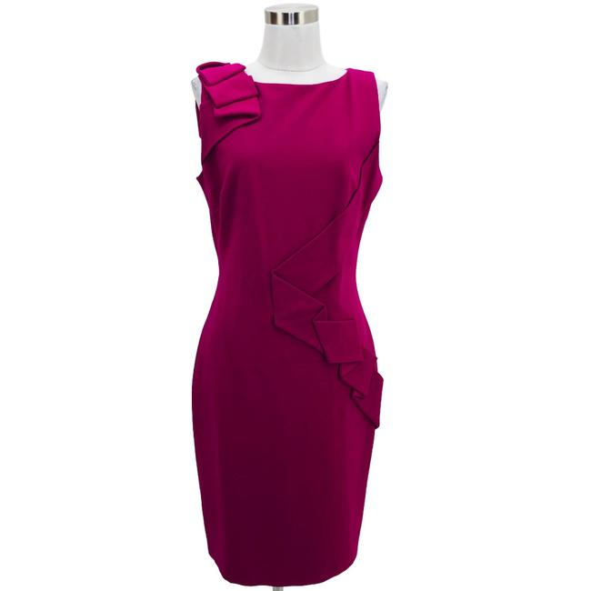 Item - Fushia Pink N752 Designer Medium Sheath Short Formal Dress Size 10 (M)