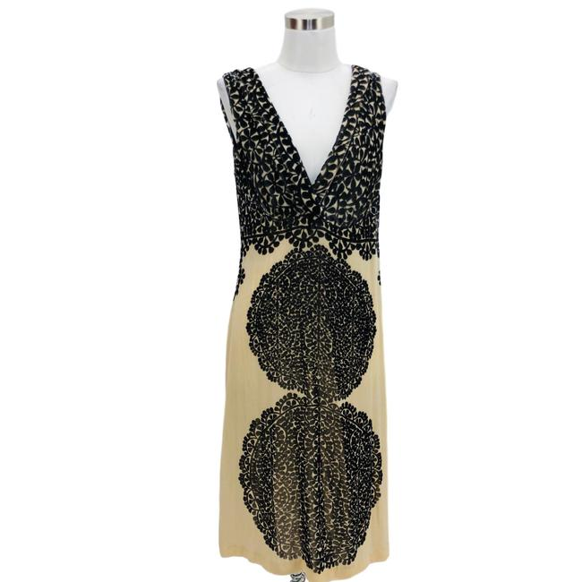 Item - Brown Beige N418 Designer Large Mid-length Night Out Dress Size 12 (L)