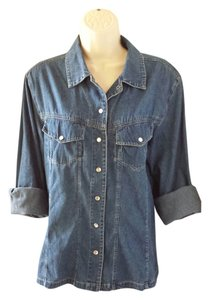 Newport News Button Down Shirt denim
