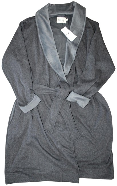 Item - Gray Blanche Plush Fleece Lined Bath Robe Sweatshirt/Hoodie Size 20 (Plus 1x)