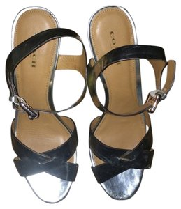Coach High Heel Leather Gold Sandals