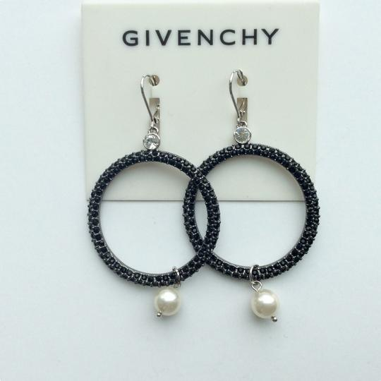 Givenchy Jet crystal Hoop Earrings Image 1