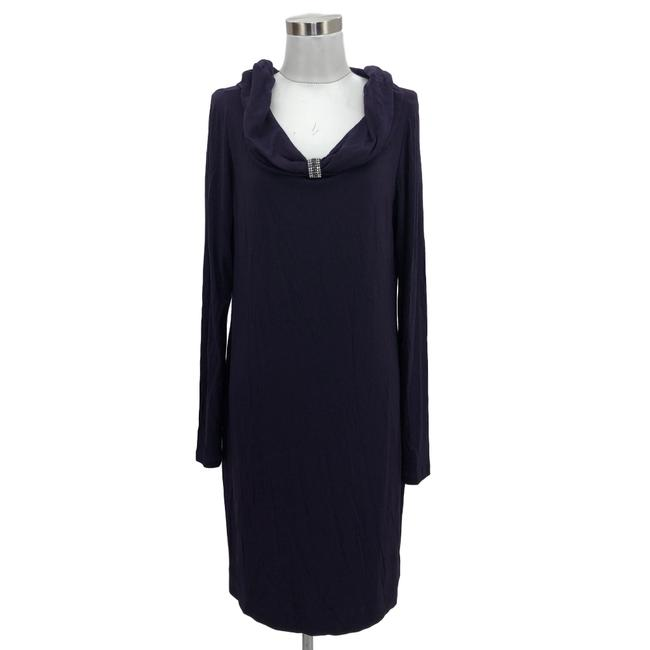 Love Moschino Purple N156 Designer Medium Long Sleeve Short Cocktail Dress Size 10 (M) Love Moschino Purple N156 Designer Medium Long Sleeve Short Cocktail Dress Size 10 (M) Image 1