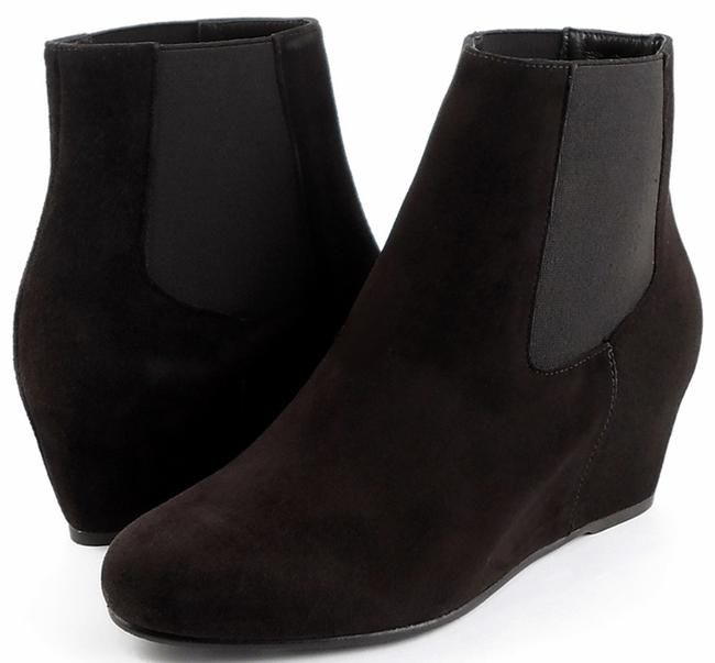 Item - Cola Brown Socks Suede Wedge Ankle Boots/Booties Size US 6.5 Regular (M, B)