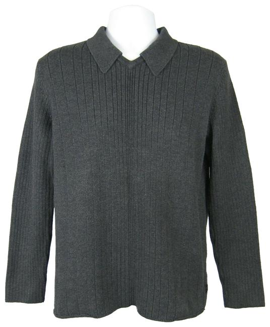 Preload https://img-static.tradesy.com/item/26513594/calvin-klein-men-s-collar-v-neck-ribbed-gray-sweater-0-1-650-650.jpg