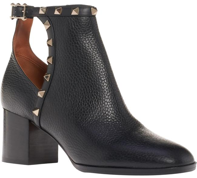 Valentino Black Rockstud City Leather Stud Heel Cut Out Short Ankle Boots/Booties Size EU 36.5 (Approx. US 6.5) Regular (M, B) Valentino Black Rockstud City Leather Stud Heel Cut Out Short Ankle Boots/Booties Size EU 36.5 (Approx. US 6.5) Regular (M, B) Image 1