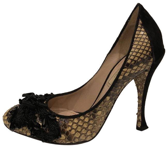 Nina Ricci Black New Genuine Python Jewel Embellished Embroidered Bow Pumps Size EU 36 (Approx. US 6) Regular (M, B) Nina Ricci Black New Genuine Python Jewel Embellished Embroidered Bow Pumps Size EU 36 (Approx. US 6) Regular (M, B) Image 1