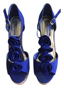 Steve Madden Royal Blue Wedges