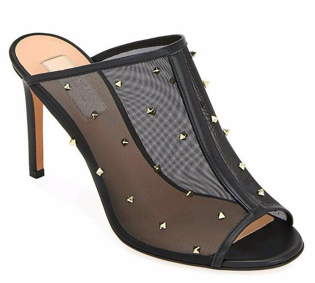 Valentino Black Rockstud Shining Mesh Stud Mule Slide Backless Sandal Heel Pumps Size EU 38 (Approx. US 8) Regular (M, B) Valentino Black Rockstud Shining Mesh Stud Mule Slide Backless Sandal Heel Pumps Size EU 38 (Approx. US 8) Regular (M, B) Image 1