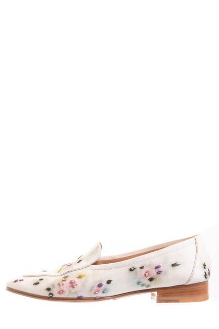 The Row Cream Adam Floral Canvas Loafers Pumps Size EU 38.5 (Approx. US 8.5) Narrow (Aa, N) The Row Cream Adam Floral Canvas Loafers Pumps Size EU 38.5 (Approx. US 8.5) Narrow (Aa, N) Image 1
