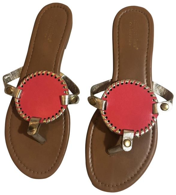 Simply Southern Gold Coral Sandals Size US 10 Regular (M, B) Simply Southern Gold Coral Sandals Size US 10 Regular (M, B) Image 1