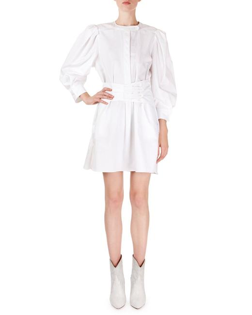 Item - White Galaxy with Belt Short Casual Dress Size 6 (S)