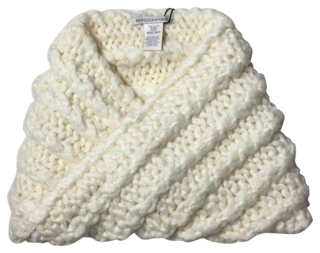 Item - Winter White Hand Knit Cable Snood Scarf/Wrap