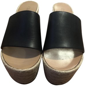 Chloé Leather Comfortable Black Wedges