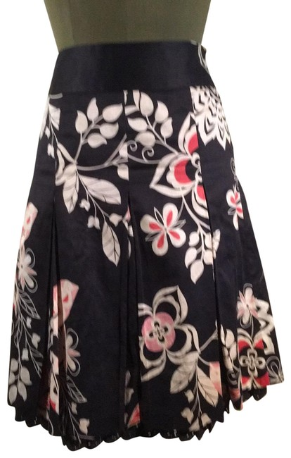 Item - Black with White/Coral Skirt Size 12 (L, 32, 33)