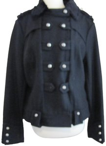 Blanc Noir Shearling Inspired Military Jacket