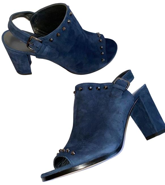 Item - Navy Blue Open Boots/Booties Size US 9.5 Regular (M, B)