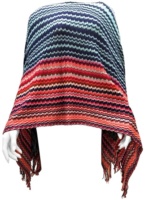 Item - Multi-color New Style Top - Cotton Poncho/Cape Size OS (one size)
