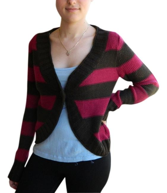 Preload https://item1.tradesy.com/images/arizona-brown-and-hot-pink-sweater-cardigan-size-12-l-265165-0-0.jpg?width=400&height=650