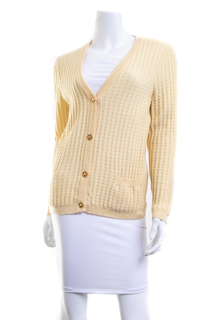 Item - Gold Wool V-neck Button Cardigan Size 4 (S)