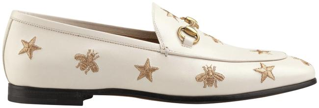 Item - White Jordaan Leather Embroidered Star Bee Loafer Mule Slipper Flats Size EU 35.5 (Approx. US 5.5) Regular (M, B)