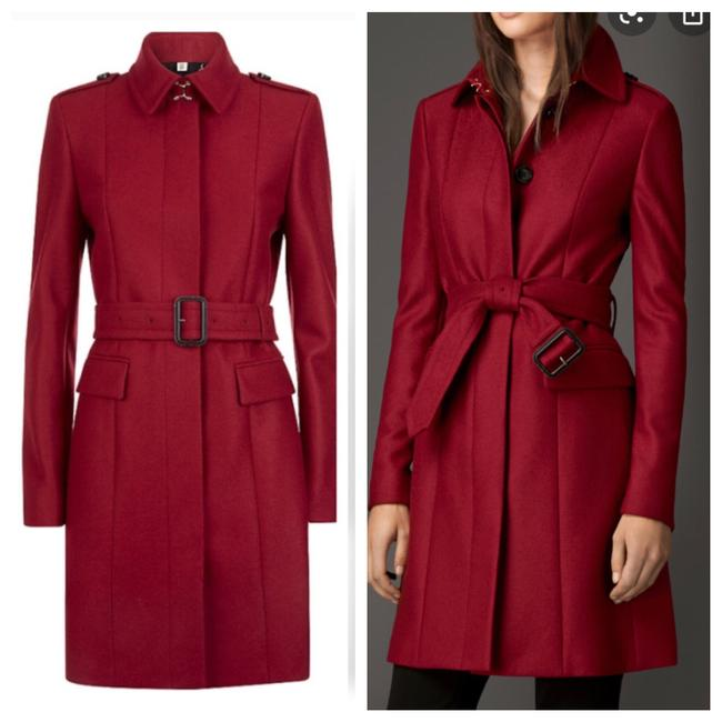 Item - Red Wool Tailored Trench Coat Size 4 (S)