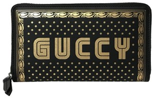 Gucci NEW GUCCI 524966 Guccy Moon & Stars Leather Zip Around Wallet