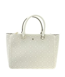 Tory Burch Leather Tote in White