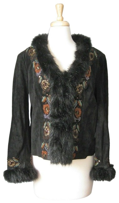 Preload https://img-static.tradesy.com/item/26517874/adrienne-landau-black-w-beaded-suede-faux-fur-trim-jacket-size-8-m-0-1-650-650.jpg