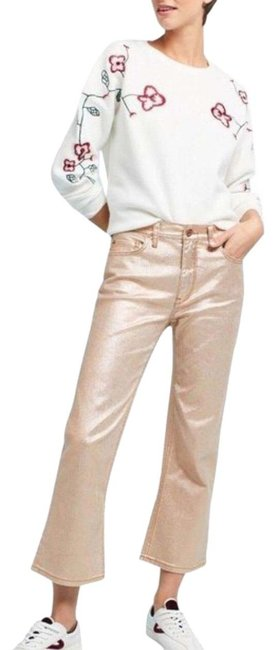 Item - Pilcro and The Letterpress Rose Gold Coated Slim Worn Once Straight Leg Jeans Size 6 (S, 28)