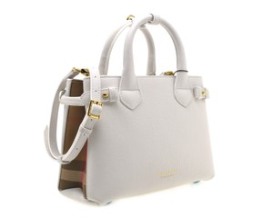 Burberry Shoulder Tote in White