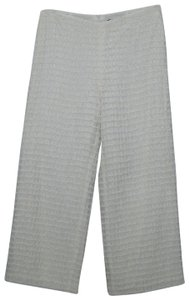 Anni Kuan Textured Crop Vintage Wide Leg Pants White