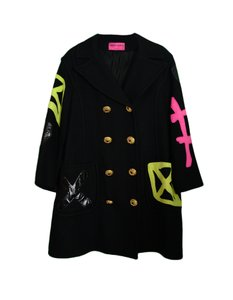 Christian Louboutin Patch Patches Double Breasted Buttons Black Jacket