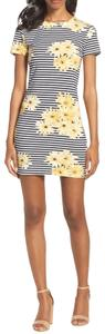 French Connection short dress black, white, yellow on Tradesy