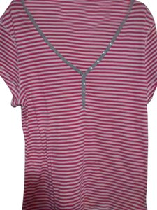 Old Navy T Shirt pink/white