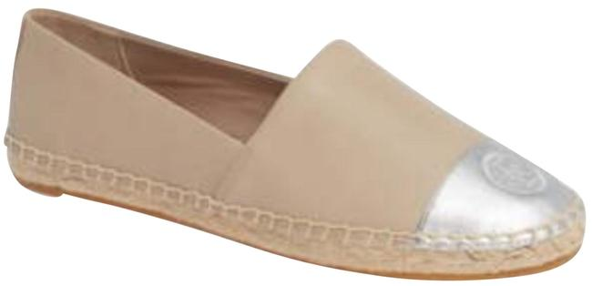 Item - Light Taupe Silver Color Block Flat Espadrilles Wedges Size US 8 Regular (M, B)