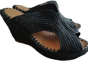 Carrie Forbes Black Wedges