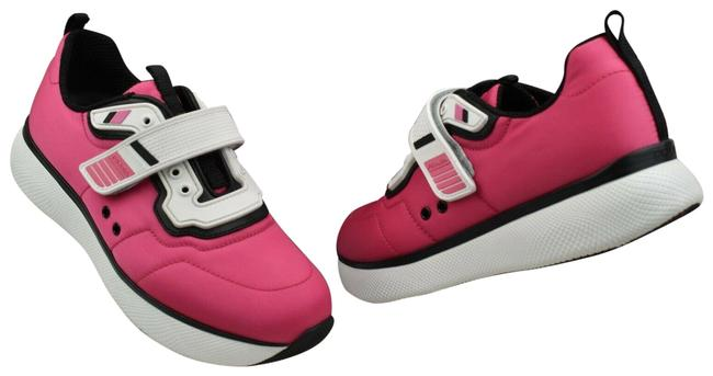 Item - Pink Fuxia Nylon White Patent Leather Low Top Strap Sneakers Size EU 39.5 (Approx. US 9.5) Regular (M, B)