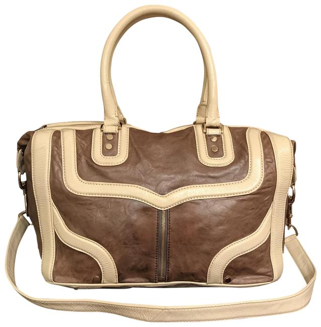 Item - Mab Bombe Brown White Leather Satchel