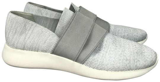 Vince Gray Solid Knit Fabric Slip On