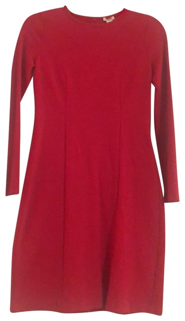 J.Crew Red Stretchy Long Sleeve Short Casual Dress Size 2 (XS) J.Crew Red Stretchy Long Sleeve Short Casual Dress Size 2 (XS) Image 1