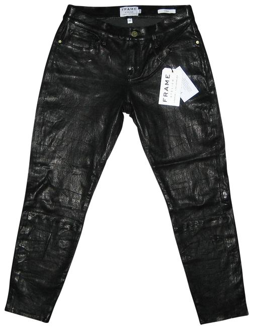 FRAME Black Atelier Le Garcon Crop Washed Leather 26 Pants Size 4 (S, 27) FRAME Black Atelier Le Garcon Crop Washed Leather 26 Pants Size 4 (S, 27) Image 1