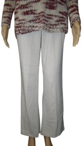 Maurices Checked Career Neutral Work Autumn Flare Pants Cream