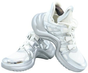 Louis Vuitton Lv Archlight Sneakers Silver and White Athletic