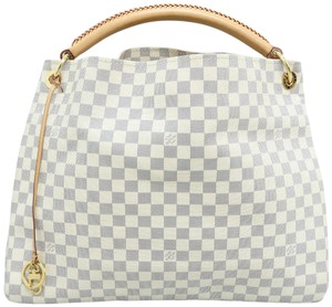 Louis Vuitton Lv Artsy Canvas Damier Azur Hobo Bag
